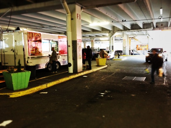 burger truck, brooklyn, home depot, parking lot, bqe