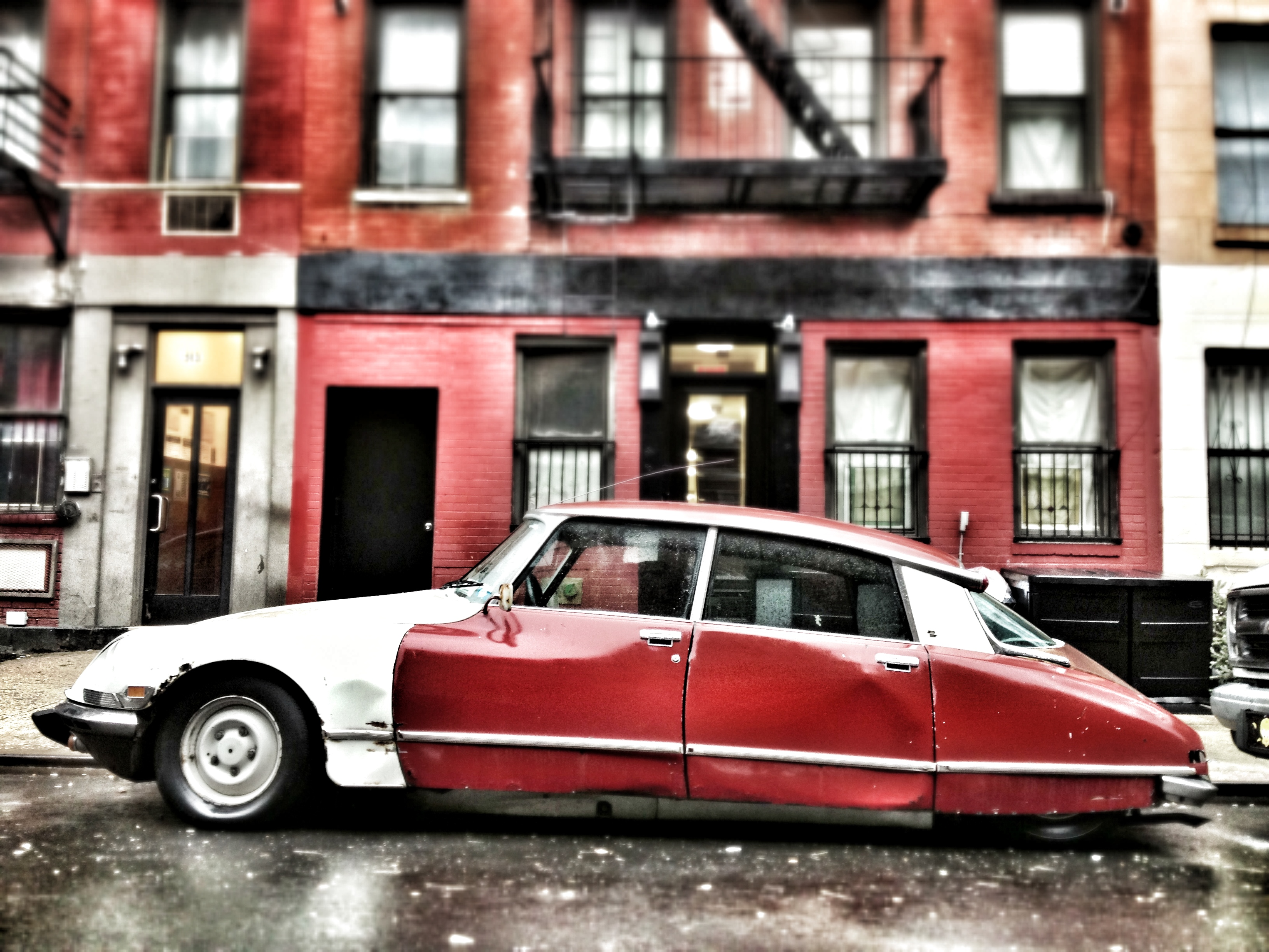 1972, citroen ds, citroen, fish out of water, east fith street, east village