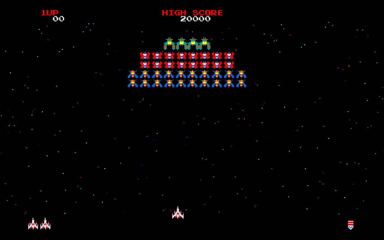 Galaga, video games, arcade