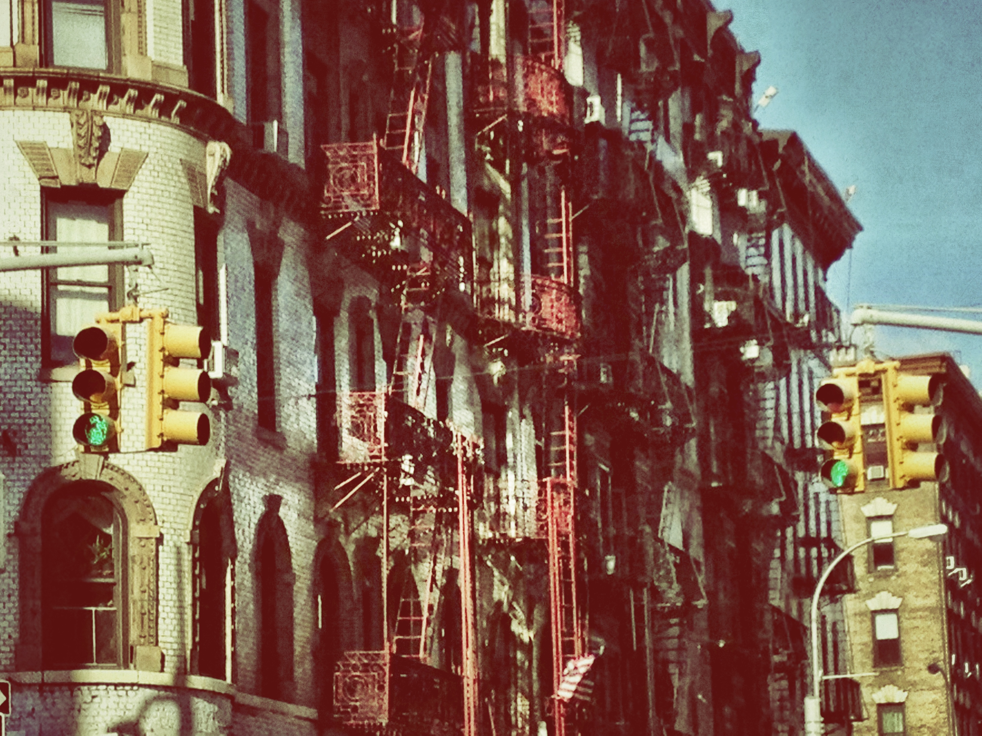 old school, mulberry street, fire escapes