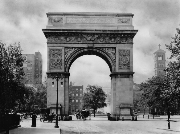 washington arch, washington square park, new york city, nyc