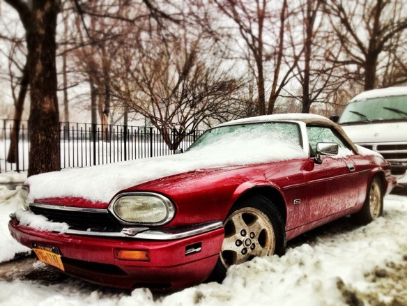 jaguar xjs, east village, snow, greg mchale, jesse shafer, convertible, chad curlett, baltimore, falls road