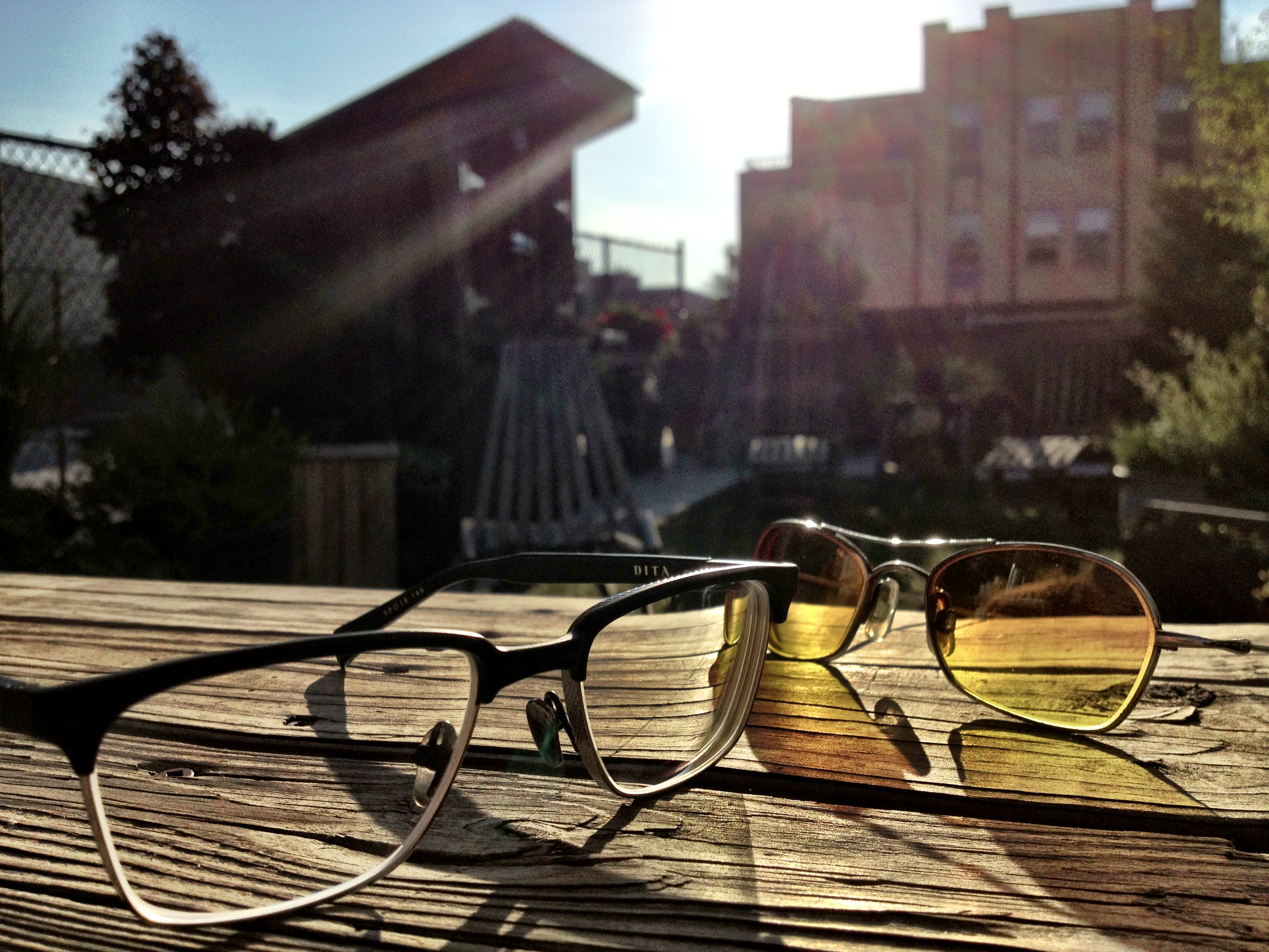 sunglasses, eyeglasses,